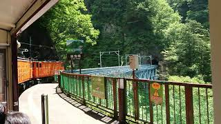 2019/8/14   黒部峡谷鉄道   黒薙駅出発
