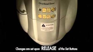 how to program a garage door opener   standard drive legacy 800