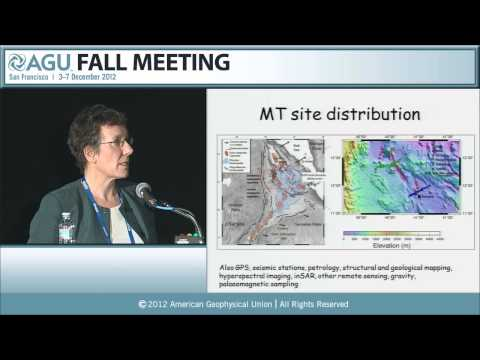 Bullard Lecture: GP23A. Magnetotelluric studies in East Africa - 2012 AGU Fall Meeting