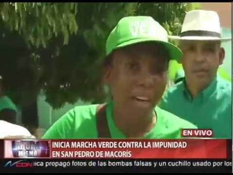 Inicia Marcha Verde contra la impunidad en San Pedro de Macorís