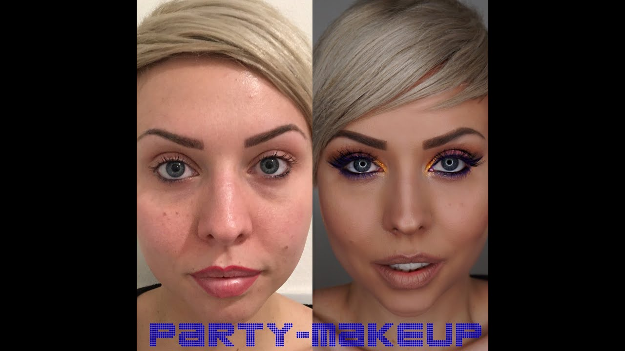 glitzer lila party augenmakeup mit fake wimpern und nat rlichen lippen produkte loreal kiko. Black Bedroom Furniture Sets. Home Design Ideas