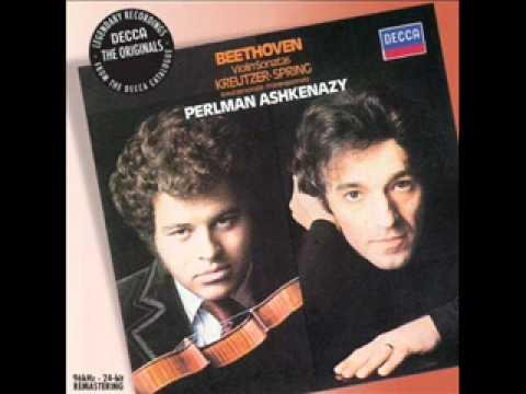 Beethoven violin sonata No. 5 Spring Mvt 2 (2/3) Perlman