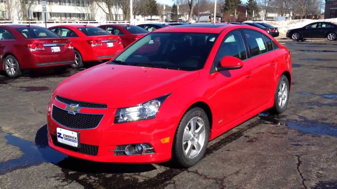 Cruze 2013 chevy cruze ltz for sale : Chevy Cruze Red Hot 1LT in Madison WI at Zimbrick Chevrolet - YouTube