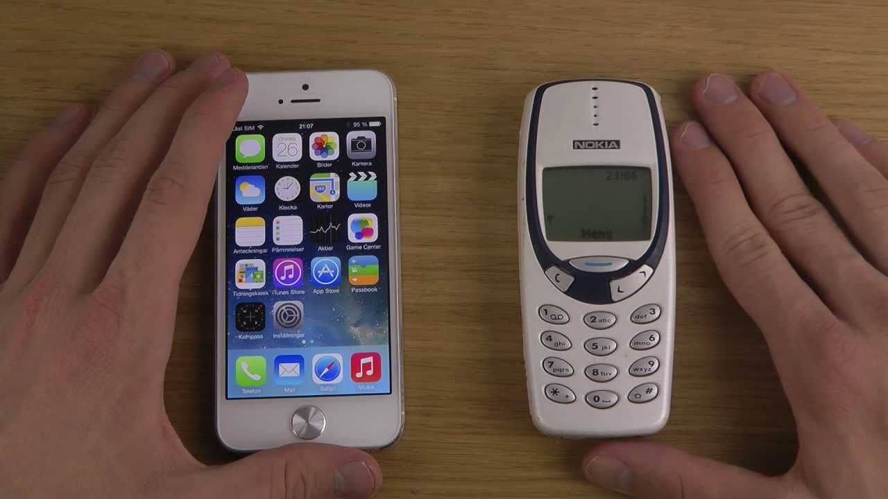 nokia 3310 vs iphone 5. Nokia 3310 Vs. IPhone 5 IOS 7 Beta 2 - Which Is Faster? Vs Iphone I