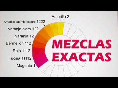 Mezclar colores medidas exactas magenta fucsia rojo - Como hacer color naranja ...