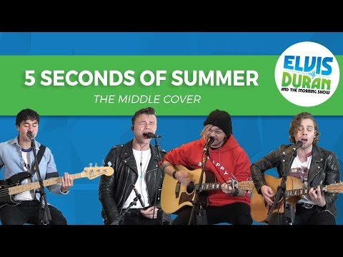 "5 Seconds Of Summer - ""The Middle"" Zedd, Maren Morris, Grey Acoustic Cover | Elvis Duran Live"