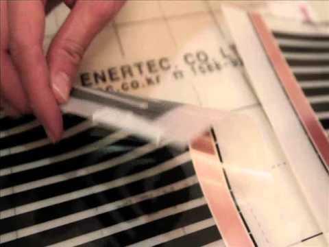 видео: Монтаж инфракрасного пленочного теплого пола daewoo