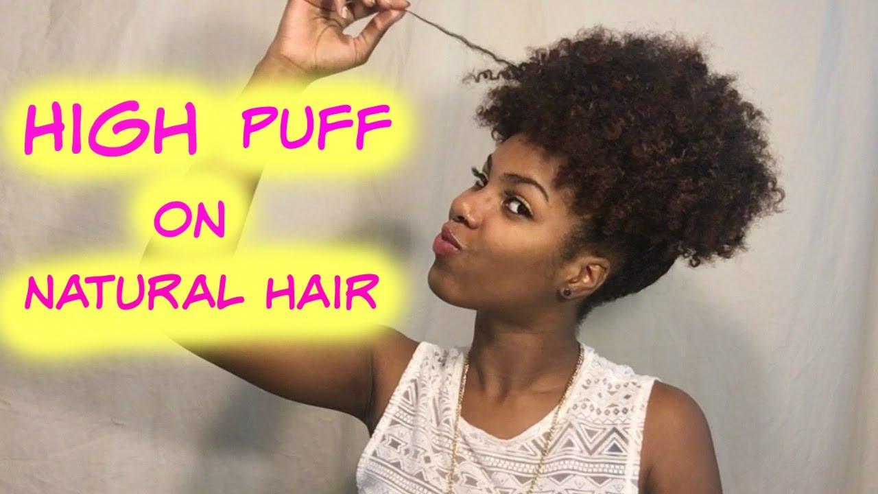Quick Easy High Puff Pineapple Tutorial On Medium 3a 4c Hair