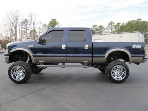 2005 ford f 350 super duty diesel lariat lifted truck for sale youtube. Black Bedroom Furniture Sets. Home Design Ideas