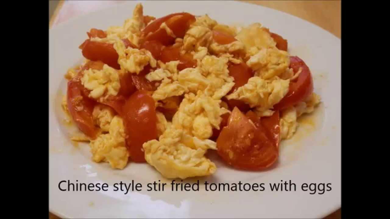 Chinese style stir fried egg tomato youtube forumfinder Choice Image