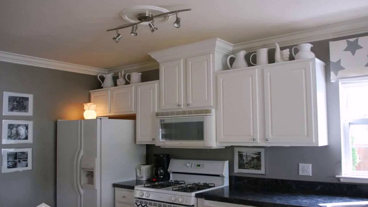 Gray Walls In Kitchen With White Cabinets Youtube