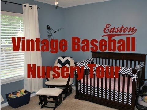 Nursery Tour Vintage Baseball Theme Youtube