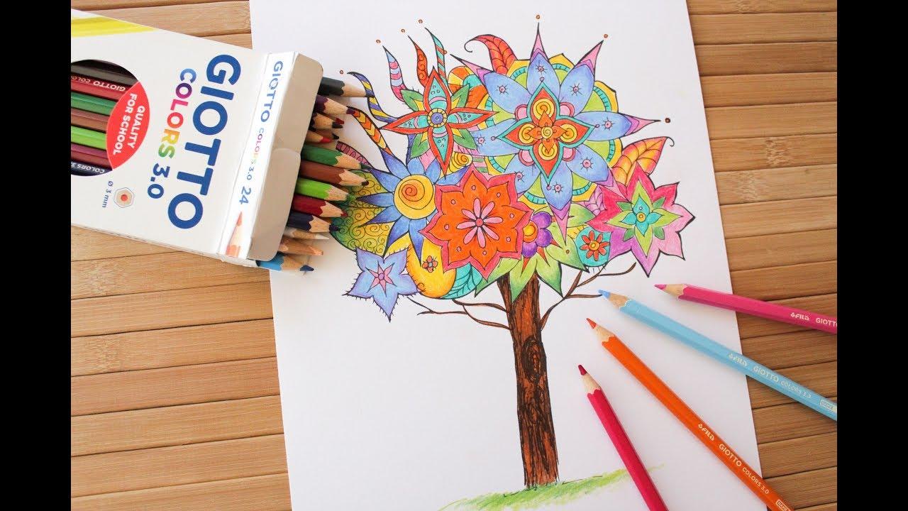 C mo colorear un mandala con l pices de colores giotto - Colores para mandalas ...