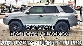 (Part7) 2017 4Runner TRD PRO Cement. VIOFO A119. Blackbox Dash Cam. 2K 1080P 2CH.