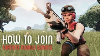 HOW TO JOIN FORTNITE MOBILE SCRIMS + PRO FORTNITE MOBILE SCRIM HIGHLIGHTS (OUTDATED)