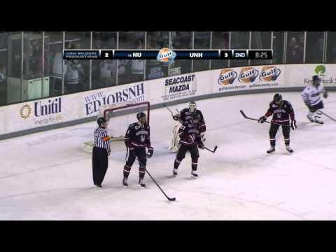 UNH Men's Hockey Highlights Vs Northeastern (03/15/14)