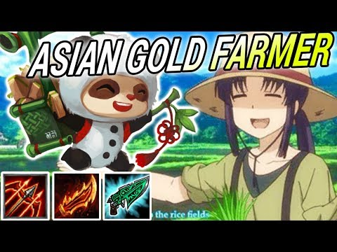 SECRET TEEMO ASIAN FARMER BUILD MAKES FIORA FEED (team reports her)