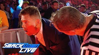 "The Miz stumbles off the ""Miz TV"" set: SmackDown Exclusive, Aug. 20, 2019"