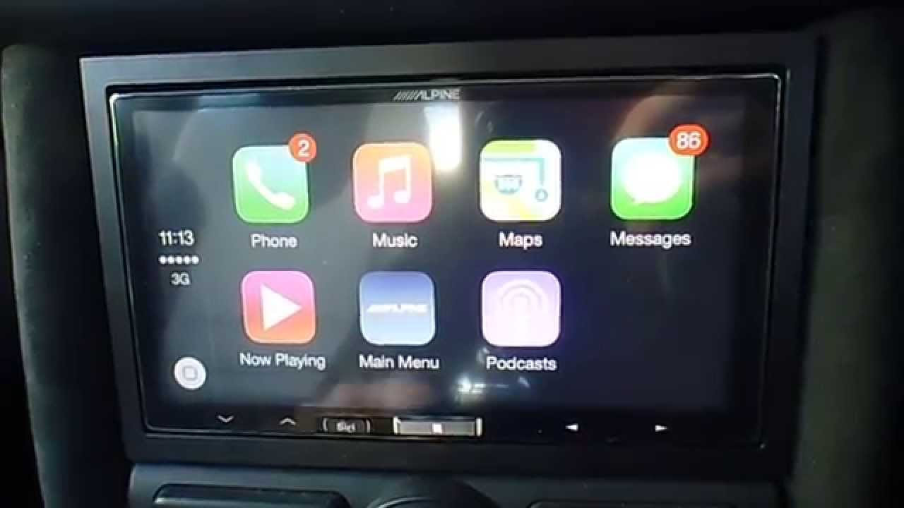 Alpine Le Carplay In A Mini