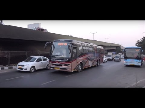 Volvo, Scania, Mercedes Benz Etc - 34 Colourful Ac Buses All In Mumbai, India !!!