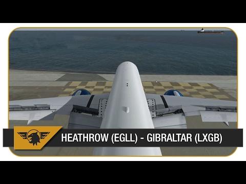 [P3D] 777 INTO GIBRALTAR! ALMOST OVERSHOT THE RUNWAY! Heathrow (EGLL) - Gibraltar (LXGB) | PMDG 777