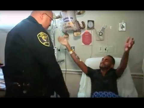 Orlando shooting survivor reunites with officer that saved him