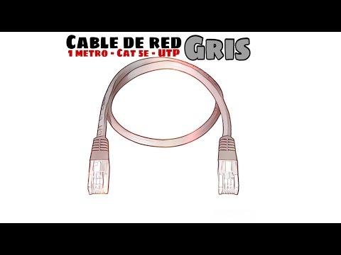 Video de Cable de red UTP CAT5E 1 M Gris