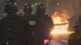 Incidentes en la desconcentración de la marcha por Maldonado en Plaza de Mayo