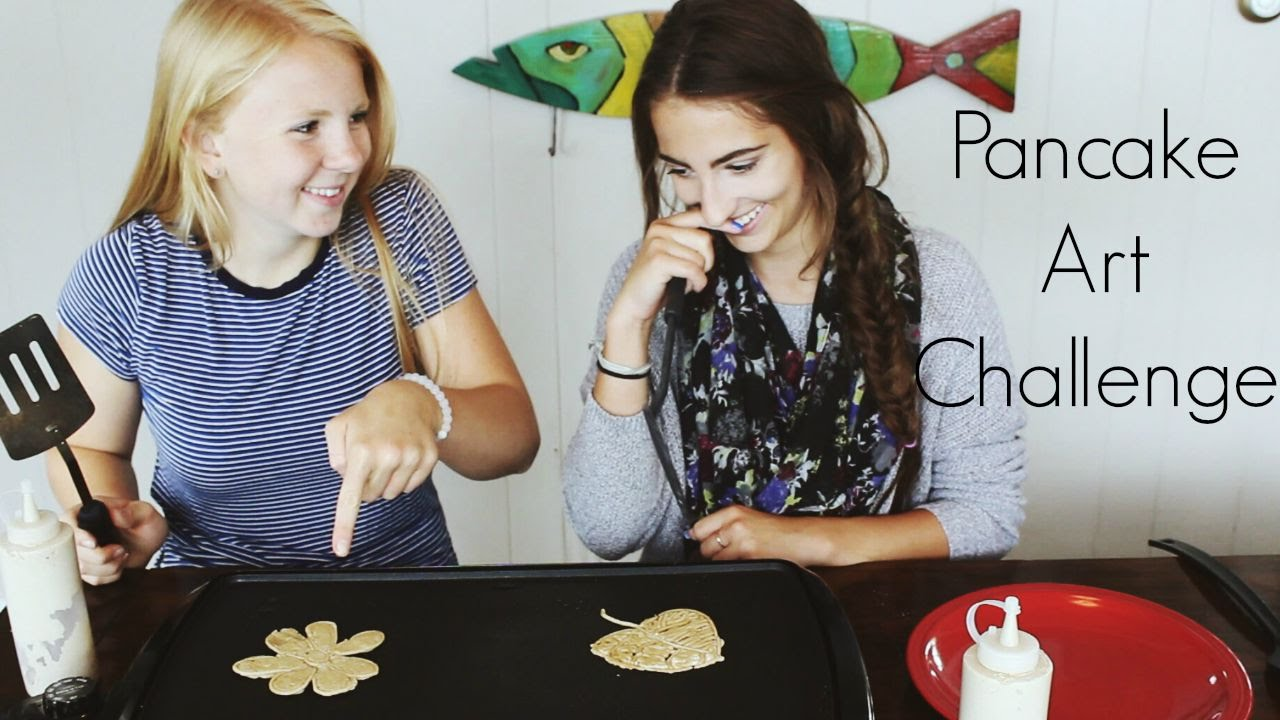 Pancake Art Challenge : Pancake Art Challenge feat. Courtney Kobbe - YouTube