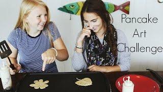 Pancake Art Challenge | feat. Courtney Kobbe