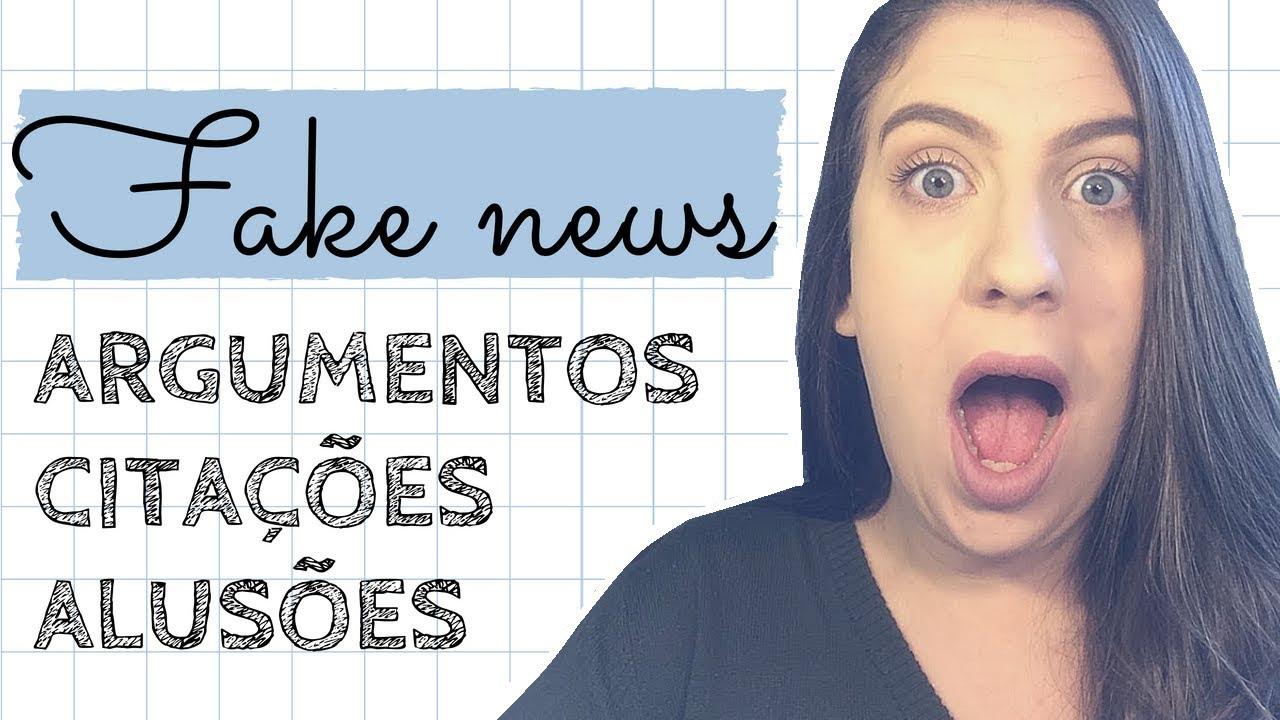 Fake News Repertório Para Redação Ofling Youtube