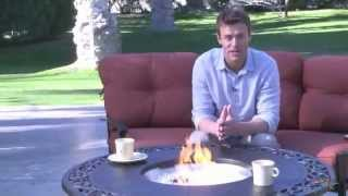 Palazetto San Miguel Cast Aluminum 48 In. Round Gas Firepit Chat Table - Product Review Video