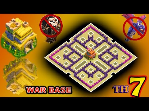 Clash Of Clans(CoC) | Best Town HaLL 7 War Base 2019 With LINK+Replays | TH7 Anti 2&3 Star  AnTi ALL