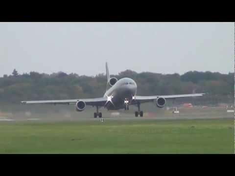 RARE - Royal Air Force Lockheed L-1011 TriStar ZE706 take off at Hamburg Airport