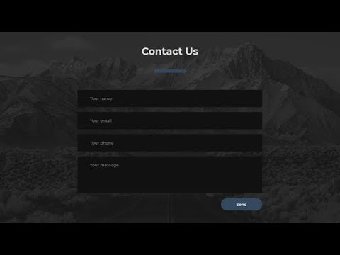 Responsive Contact Us Section Using Only Html Css Youtube