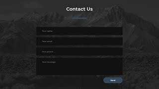 Responsive Contact Us Section Using Only HTML & CSS