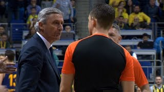 Svetislav Pešić Pobesneo i Isključen u Prvom Minutu Meča   SPORT KLUB Košarka