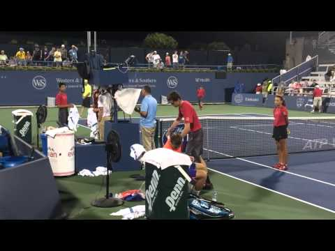 Kokkinakis-Harrison handshake and some chatter in Cincinnati