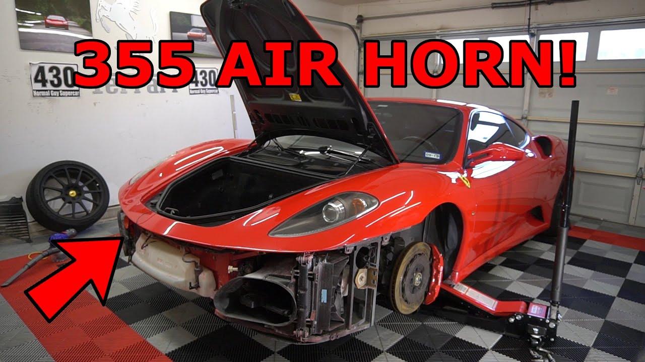 Installing A Real Ferrari Air Horn In My Ferrari F430 Youtube
