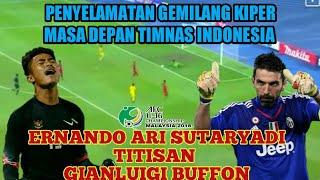 9 Penyelamatan Ernando Ari S. Titisan Gianluigi Buffon | Kiper Masa Depan Timnas : Piala AFC U-16