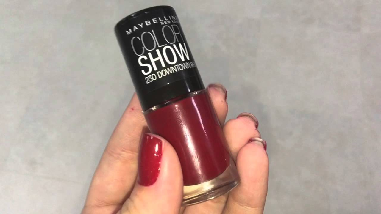 Maybelline Color Show - DownTown RED - YouTube