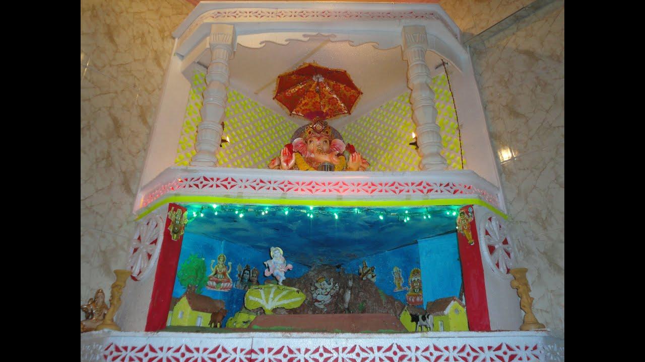 ganpati home decoration 2011 kailash pate youtube