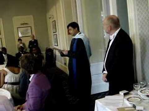 Dr Salim Mahmud on receiving a special Dean's award
