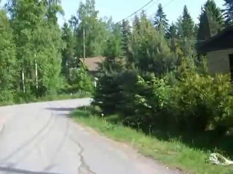 IHL71 Финская деревня. Дома по линии. Прогулка по деревне.