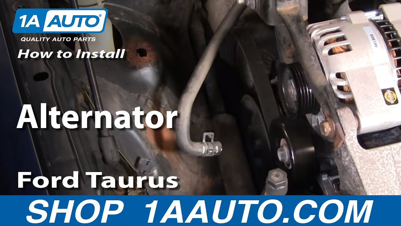 How to install replace alternator ford taurus v63 0l 00 07 1aauto com youtube