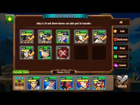 Magic rush heros island crusade level 9