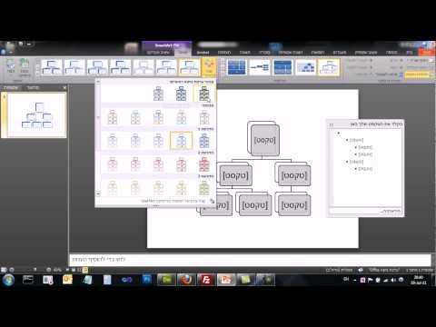 PowerPoint 2010 - SmartArt - סמארט ארט - אובייקט תלת מידי