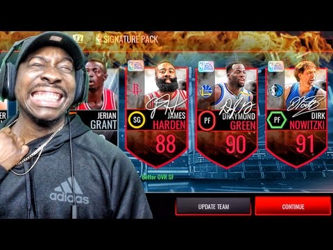 SIGNATURE & THROWBACK PACK OPENING! PACK ADDICT IS BACK! NBA Live Mobile 16 Gameplay Ep. 63
