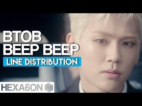 BTOB - Beep Beep Line Distribution (Color Coded)