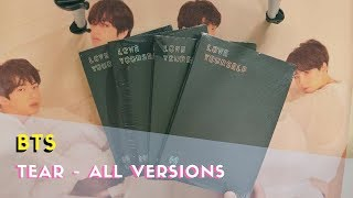✨unboxing bts love yourself - tear 轉 album (all versions) ✨